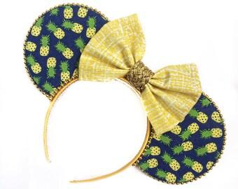 Dole Whip Mouse Ears | Pineapple Mouse Ears | Mouse Ears Headband | Mouse Ears