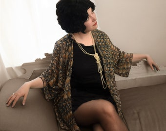 Art Deco Jacket / Robe ~ 1920's Inspired Flapper Loungewear