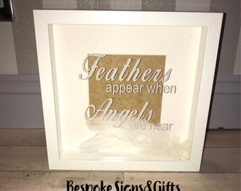 Feathers appear when angels are near frame