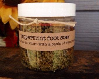 Peppermint Foot Soak - 4 oz. jar