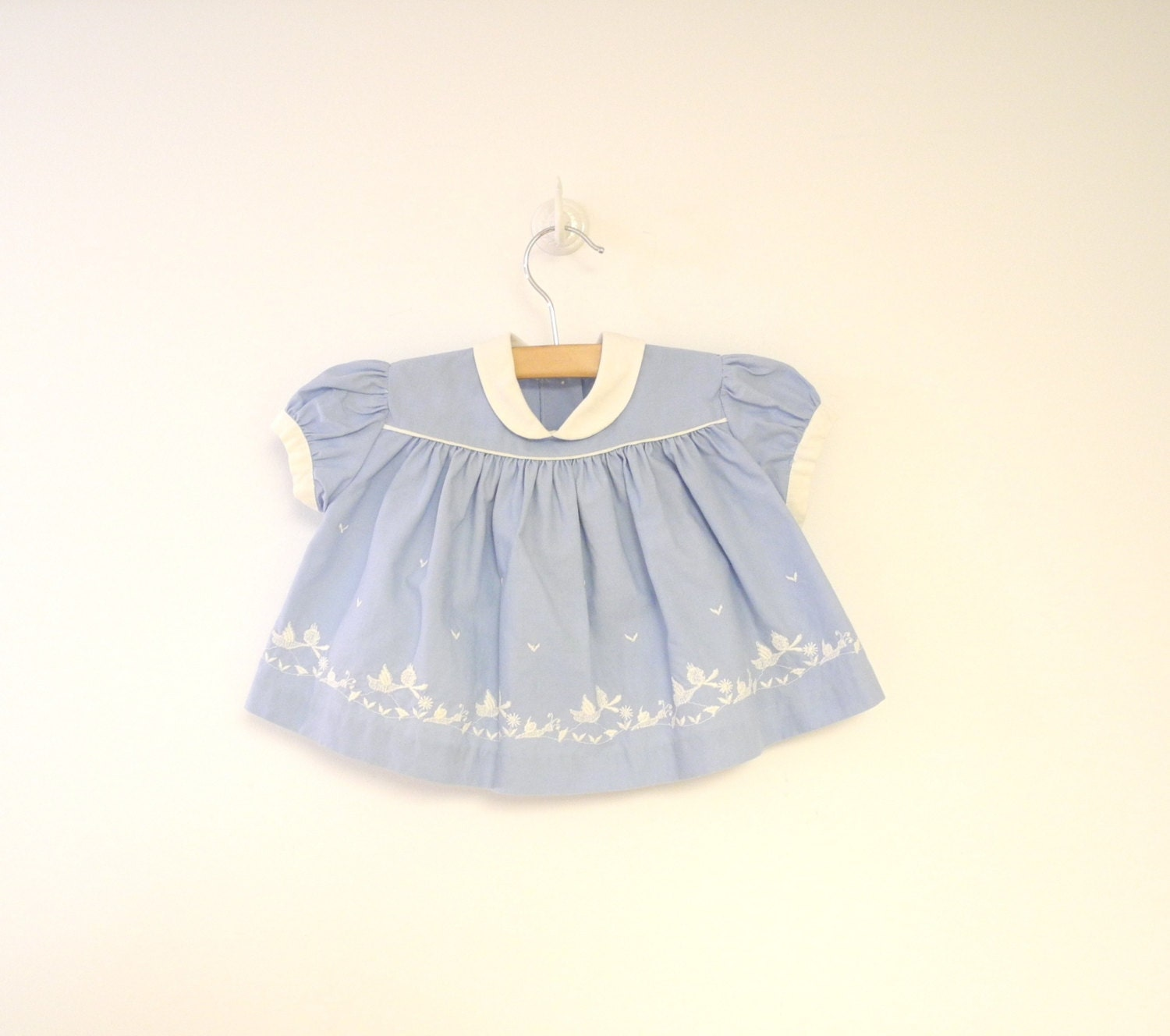 Vintage Baby Clothes 1950 s Kate Greenaway China Blue and