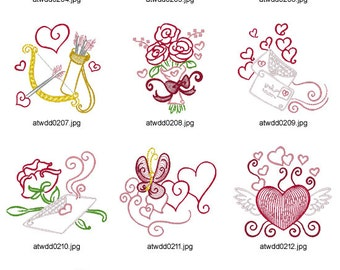 Outline-Valentine ( 10 Machine Embroidery Designs from ATW )
