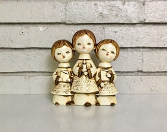 Vintage Ceramic Three Singing Angels Christmas Holiday Décor // Japanese Ceramic // Mid Century Modern Christmas Holiday // Caffco