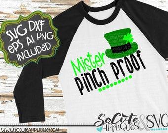 Mister Pinch Proof svg, St Patricks day SVG, socuteappliques, clover svg, St Patricks SVG, green svg, lucky svg, shamrock svg, irish svg