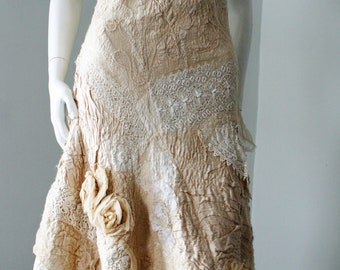 Felted wedding dress