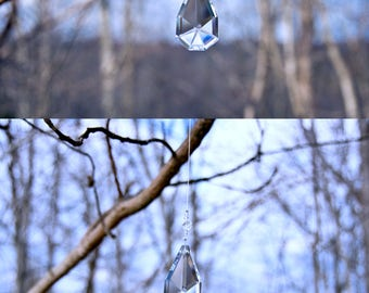 Bat Coffin - Prism - Rainbow Maker- Window Hanging or Necklace