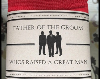 Father of the Groom Sock Label (PDF label only)