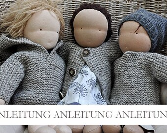 NATURKINDER Puppen Wickelpullover und Jacke (zwei Varianten)
