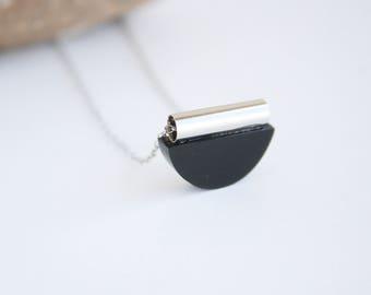 Recycled Jewelry, Perspex Necklace, D Shape Necklace, Plexiglas Jewellery, Environmentally Friendly Jewelry, Geometric Necklace, Boho Style