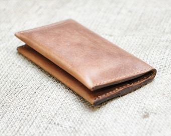 Distressed Leather Android/Apple Case and Wallet Pouch - Retromodern Leather Smartphone Wallet