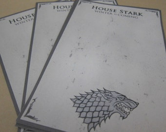 Game of Thrones - House Stark Writing Sheets