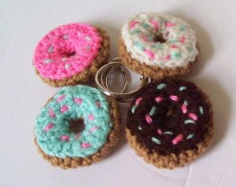 Mini Donut Keychain | Crochet Mini Donut Charm | Crochet Mini Donuts