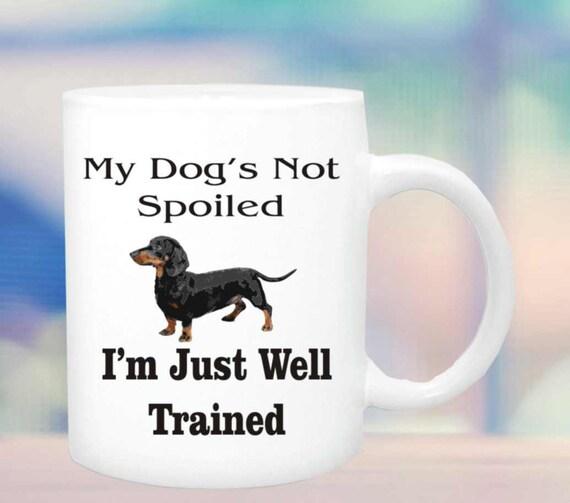 Dogs not spoiled #122,dachshund lover mug, funny mug, doxie dog lover cup, coffee mug gift, , personalized coffee mug, mug, cup, custom cup