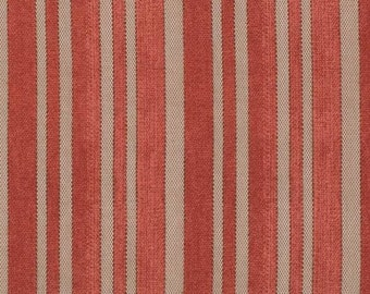 Red Ticking Stripe, Tim Holtz Eclectic Elements Cotton Woven Fabric