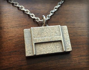 Super Nintendo Entertainment System 3D Printed Stainless Steel Pendant and Keychain