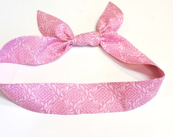 Spa Head Wrap, Gel Cooling Scarf, Pink Neck Cooler, Stay Cool Tie Headband, Heat Relief Cool Bandana Head Band iycbrand