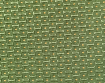 Dot - Green - Yellow - Upholstery Fabric by the Yard