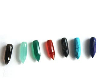 Mix loose gemstones spyke Shape 41.15 carats 6x20 mm for Semi Precious faceted Cut Gemstone for Jewellery 7 Pcs