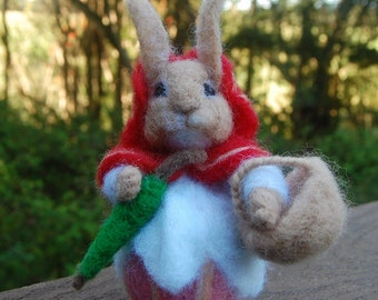 Beatrix Potter Mother Rabbit. Tale of Peter Rabbit. Needle Felted Beatrix Potter Characters. Beatrix Potter Story