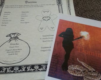 Domina Spell Bundle Formulary Set PDF -- Book of Shadows -- BOS page -- with novena labels
