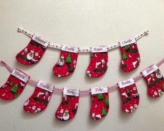 Personalised Handmade Christmas Stocking Bunting