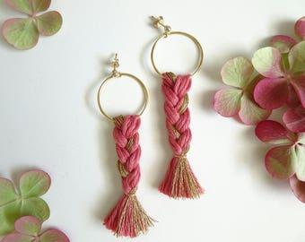 Earrings pink mat