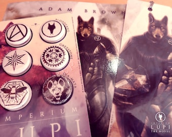 Imperium Lupi Kit - Signed Novel with Bookmark & Badge Set.