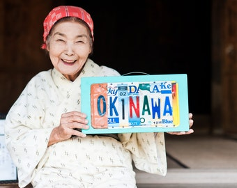 OKINAWA sign, Okinawa Art, Okinawa Japan, Okinawa Military Base, Travel Okinawa, Okinawa Vacation, License Plate Art, Okinawa Wedding gift