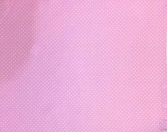 Pink White Polka Dot Silk Pocket Square