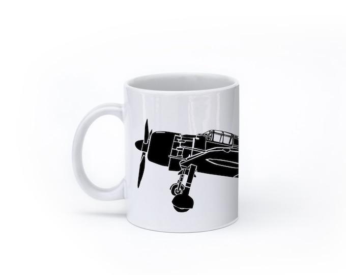 KillerBeeMoto:   Mitsubishi A6M Japanese Zero Fighter Plane Coffee Mug (White)
