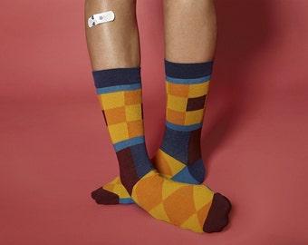 High Quality Gothenburg Mosaic Socks for  Men.