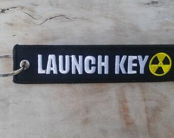 LAUNCH KEY Black Key Tag/Ring