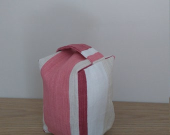 Fabric door stop | Laura Ashely awning stripe | own fabric | bespoke | gifts for her | housewarming
