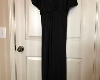 Unique Long Black Evening Vintage Dress
