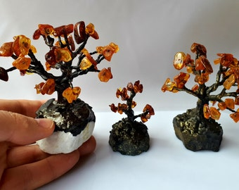 1 LOT of 3pcs A Tree of life Genuine Baltic Amber