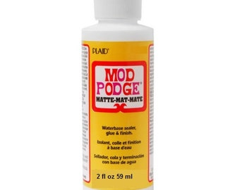New Factory Sealed Bottle Plaid MOD PODGE CS15139 MATTE water base waterbase sealer sealant glue/finish For Decoupage Crafts 2 fl oz / 59 ml