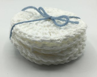 Reusable Cotton Facial Rounds, Crochet Face Rounds, Cotton Rounds, Face Scrubbies, Makeup Remover Rounds, Makeup Wipes