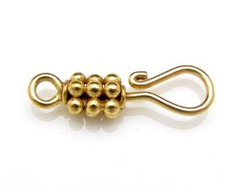 1 Pc, 17mm, 24k Gold Vermeil Clasp