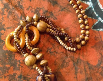 Wooden African Necklace