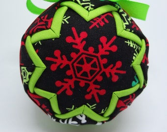 Quilted Fabric Ornament Snowflakes Christmas Holiday Gift