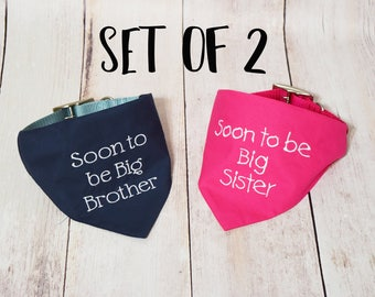 Pregnancy Announcement - Baby Announcement - Custom Dog Bandana - Baby Reveal - Big Brother Bandana - Future Big Brother - Future Big Sister
