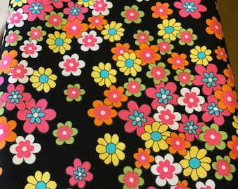 Windham fabrics, Feeling Groovy, bright flowers