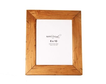 8x10 Cabin picture frame - Natural Alder, Free Shipping