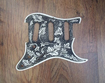Handmade pickguard etsy stratocaster pickguard scratchplate custom engraved hand made in the uk sciox Images