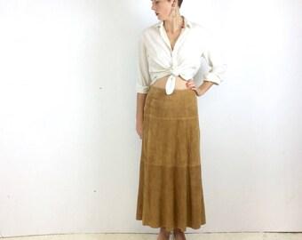 1970s Prada Suede Long Skirt