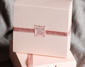 Pink colour gift boxes in set of 10