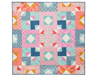 Rosewood PDF Quilt Pattern - Beginner level - Easy to make