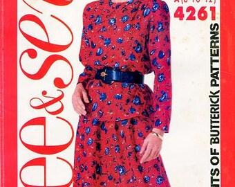 Sz 8/10/12 -Butterick Pattern 4261 - Misses'/Misses' Petite Top and Skirt