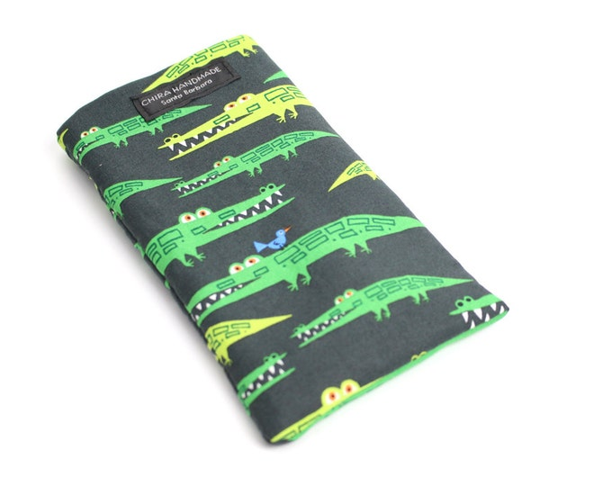 Later Gator fabric Eyeglass Reader Case. Multi-functions as a checkbook case or cell phone pouch.