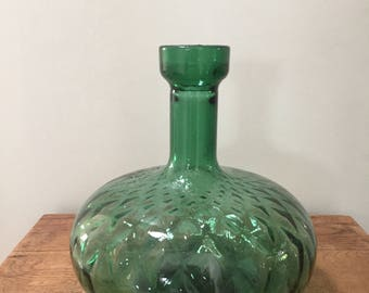 Mid Century Green Glass Vase
